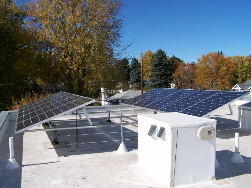 A flat roof installation in Denver